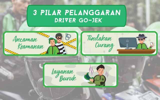 3 Pilar Pelanggaran Driver Go-Jek