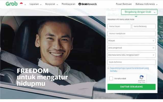 Cara daftar driver Grab secara online