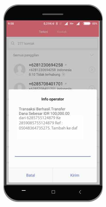 Cara Top Up Saldo Go-Pay Driver Via Rekening Ponsel di Smartphone
