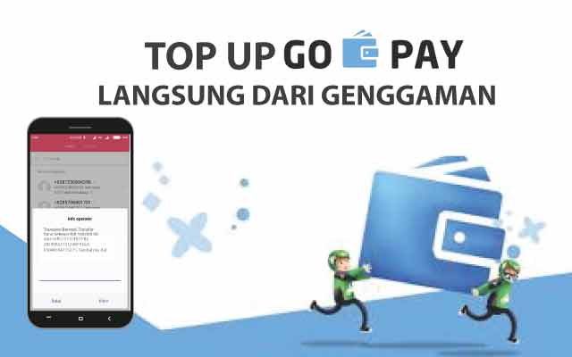 Cara Top Up Saldo Go-Pay Driver Via Rekening Ponsel di Smartphone