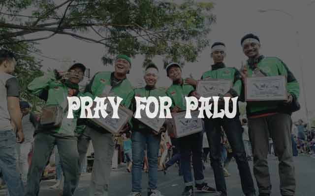 Pray for palu dari gojek