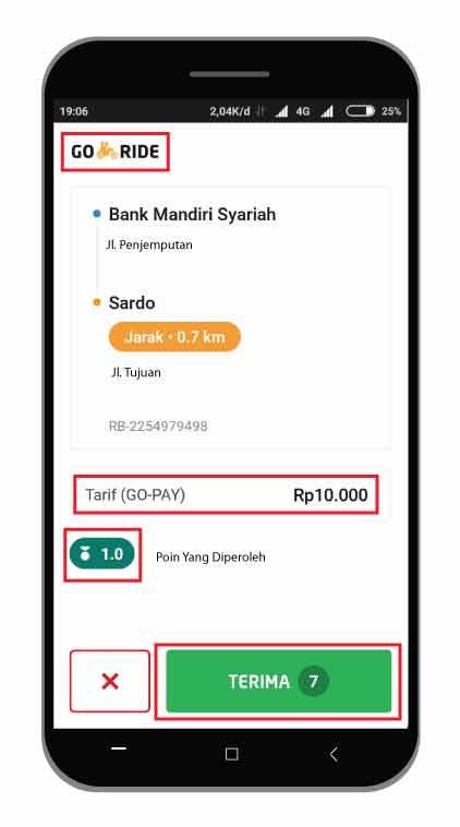 Cara Menjalankan Order GO-RIDE Aplikasi Terbaru 2019