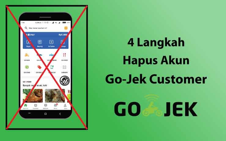 hapus akun go jek customer