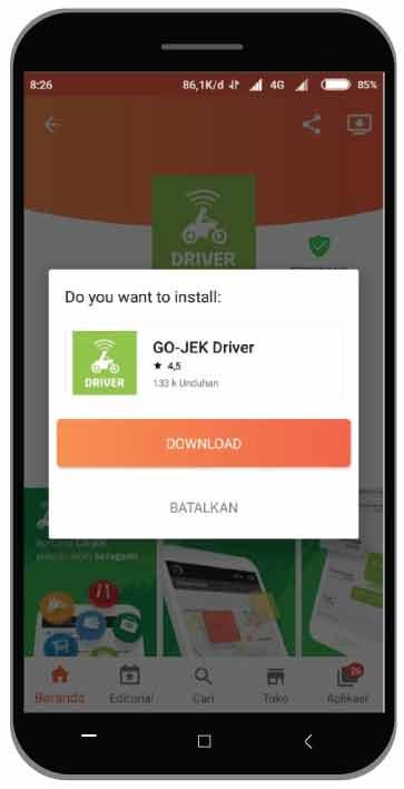 Cara Downgrade Aplikasi Driver Gojek ke versi Lama