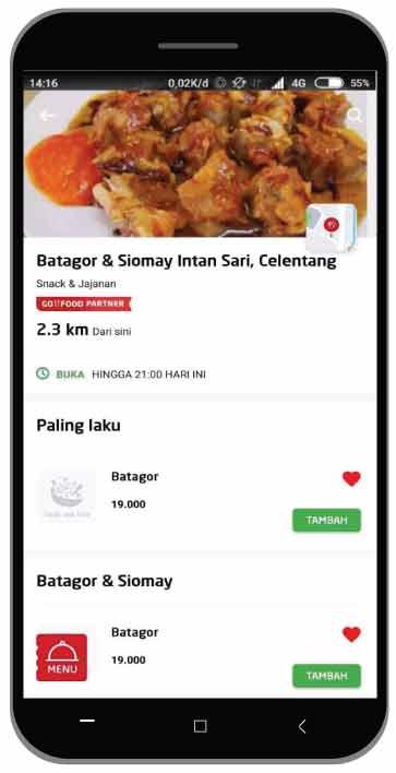 Siomay Batagor Intan Sari Celentang