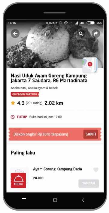 Nasi Uduk Jakarta 7 Saudara, RE Martadinata