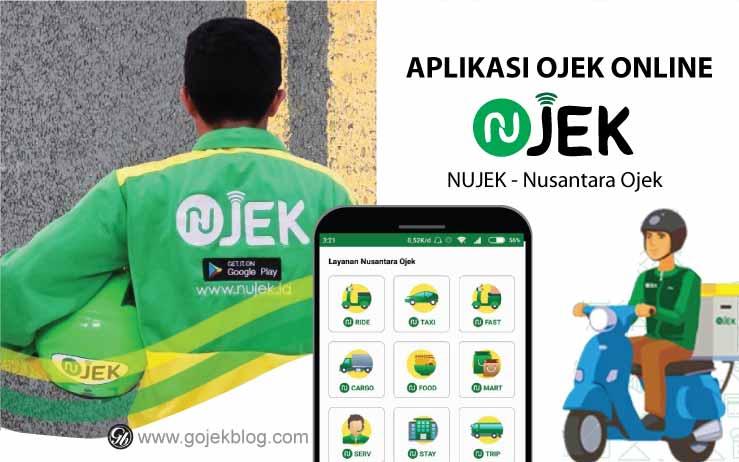 Aplikasi ojek online Nujek