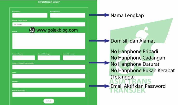 Cara Mudah Daftar Driver Asia Trans (TransJek) Online 2019 Terbaru dan Terlengkap