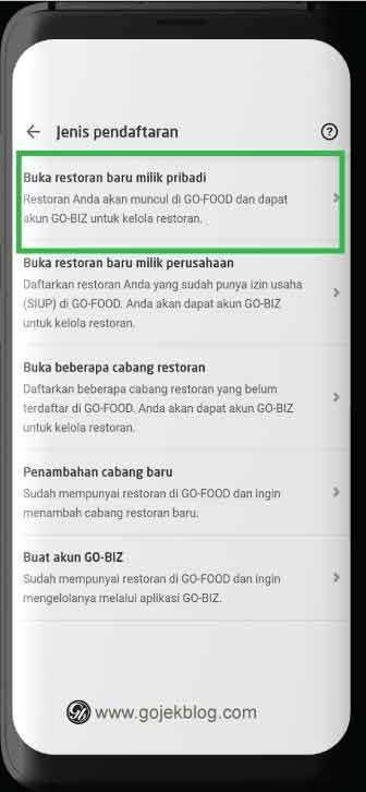 Cara Daftar GoFood Secara Online Melalui Aplikasi GoBiz