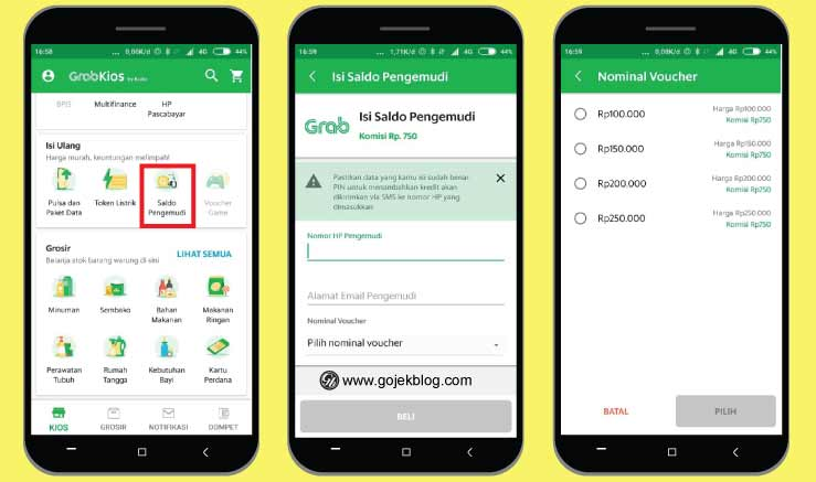 Tutorial Lengkap Cara Top Up Saldo Grab Driver di GrabKios Terbaru