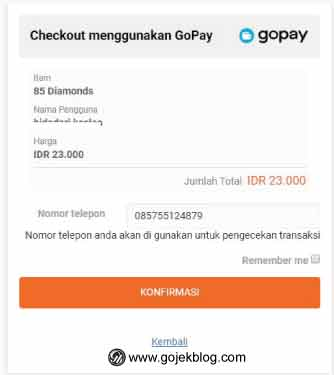 Cara Top up Mobile Legend Via Unipin pakai Gopay
