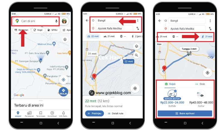 Cara Cek Harga Tarif Grab dan Gojek Tanpa Menggunakan Aplikasi Pelanggan
